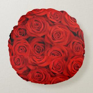 Almofada Redonda Travesseiro das rosas vermelhas