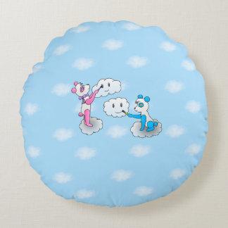 Almofada Redonda travesseiro de 2 pandas