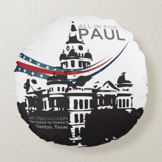 Almofada Redonda Travesseiro de Paul
