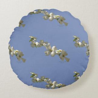 Almofada Redonda Travesseiro decorativo - árvore de Dogwood de
