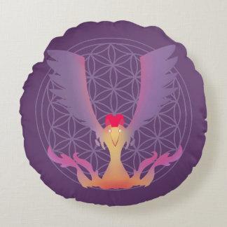 Almofada Redonda Travesseiro decorativo da arte do pássaro de