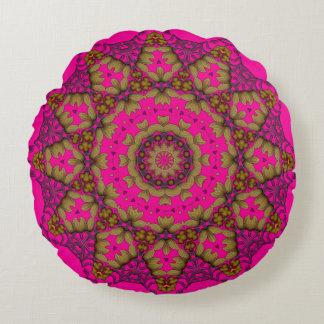 Almofada Redonda travesseiro decorativo da mandala da arte 3D