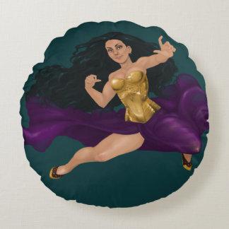 Almofada Redonda Travesseiro decorativo da princesa Lucy Redondo do