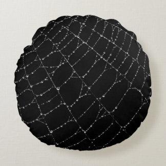 Almofada Redonda Travesseiro decorativo Dewy das Web de aranha
