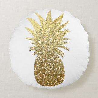 Almofada Redonda Travesseiro decorativo do abacaxi do ouro