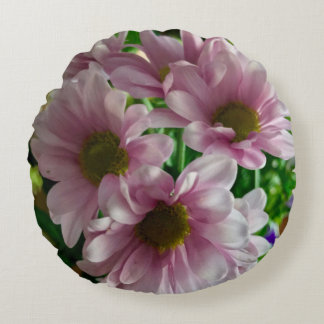 Almofada Redonda Travesseiro decorativo floral do acento -