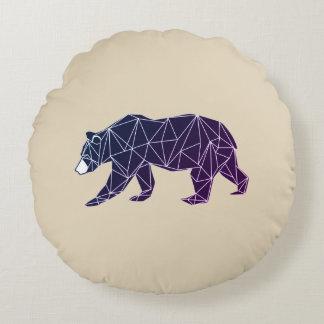 Almofada Redonda Travesseiro decorativo geométrico do urso dos