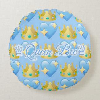 Almofada Redonda Travesseiro decorativo redondo da abelha de rainha