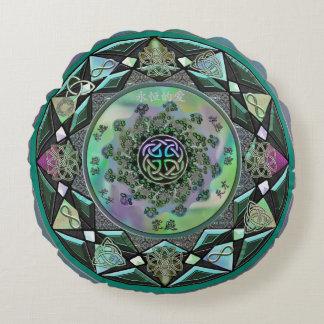 Almofada Redonda Travesseiro decorativo redondo da mandala Mystical