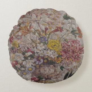 Almofada Redonda Travesseiro decorativo redondo de matérias têxteis