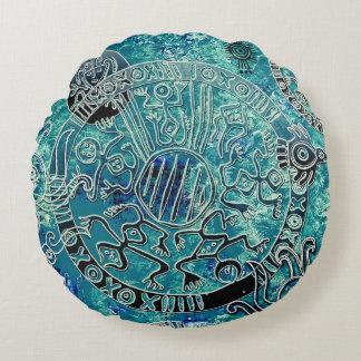 Almofada Redonda Travesseiro decorativo redondo do algodão asteca
