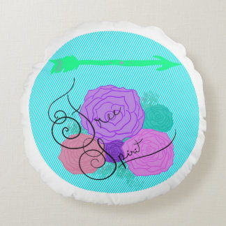Almofada Redonda Travesseiro decorativo redondo do espírito livre