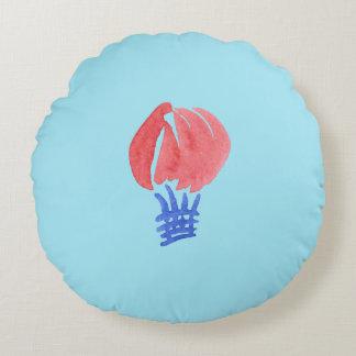 Almofada Redonda Travesseiro decorativo redondo escovado do