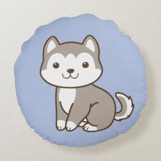 Almofada Redonda Travesseiro decorativo redondo ronco do cão de