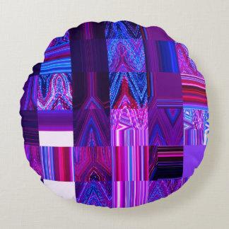 Almofada Redonda Travesseiro decorativo redondo violeta de Mélange