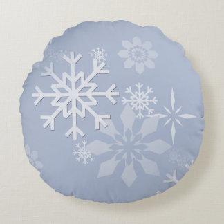Almofada Redonda Travesseiro do floco de neve