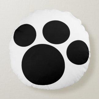 Almofada Redonda travesseiro do impressão da pata