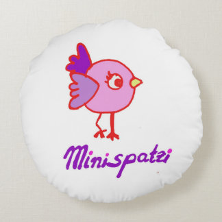 Almofada Redonda Travesseiro do pássaro de Minispatzi