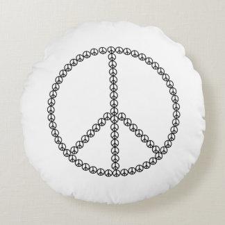 Almofada Redonda Travesseiro do sinal de paz