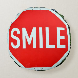 Almofada Redonda Travesseiro do sorriso