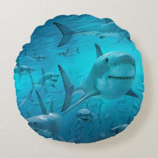 Almofada Redonda travesseiro do tubarão
