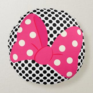 Almofada Redonda Travesseiro feminino cor-de-rosa