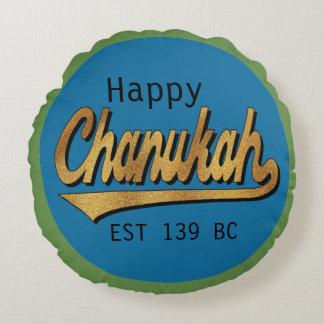 """Almofada Redonda Travesseiro redondo """"Chanukah EST 139"""" de Hanukkah"""