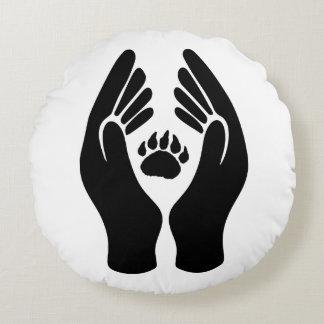 Almofada Redonda Travesseiro redondo - cuidado para ursos