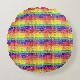 Almofada Redonda Travesseiro redondo da arte do teste padrão da