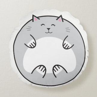 Almofada Redonda Travesseiro redondo da barriga do gato gordo