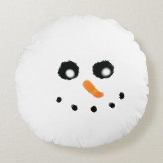 Almofada Redonda Travesseiro redondo da cara do boneco de neve