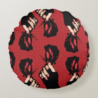 Almofada Redonda Travesseiro redondo das rosas vermelhas