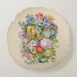 Almofada Redonda Travesseiro redondo do buquê da flor