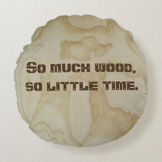 Almofada Redonda Travesseiro redondo do estilo da madeira