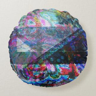 Almofada Redonda Travesseiro redondo do mosaico do algodão