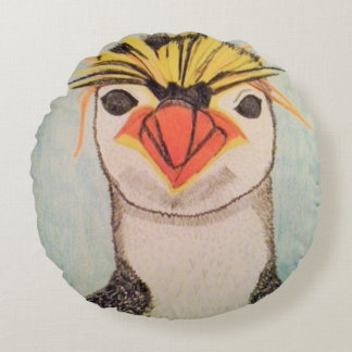 Almofada Redonda Travesseiro redondo do pinguim
