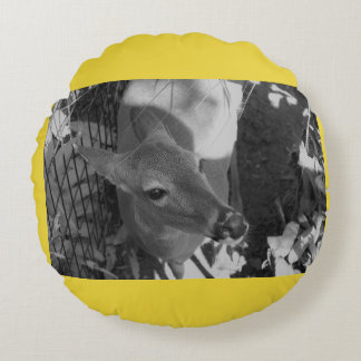 Almofada Redonda Travesseiro redondo dos cervos amarelos