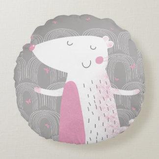 Almofada Redonda Travesseiro redondo, rato bonito (acento