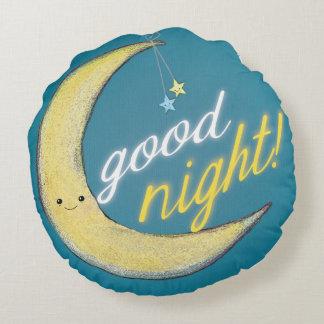 Almofada Redonda Travesseiro redondo reversível da boa noite do bom