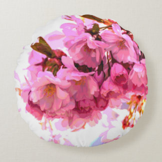 Almofada Redonda Travesseiro reversível do crisântemo e da flor de