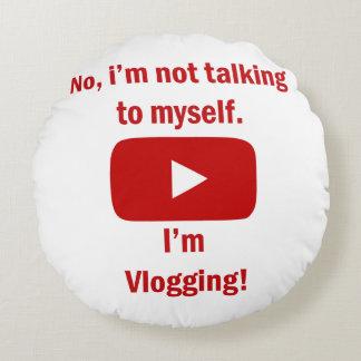 Almofada Redonda travesseiro vlogging