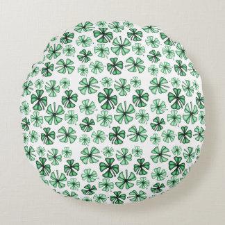 Almofada Redonda Trevo afortunado Hortelã-Verde do trevo