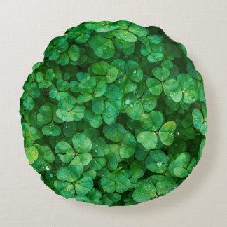 Almofada Redonda Trevos afortunados de St Patrick