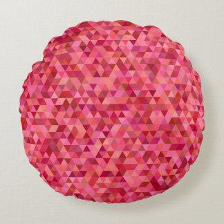 Almofada Redonda Triângulos cor-de-rosa