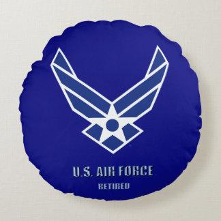 Almofada Redonda U.S. Força aérea aposentada em volta do