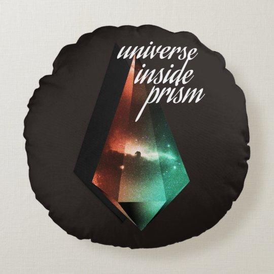Almofada Redonda Universe inside prism