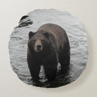 Almofada Redonda Urso de Brown