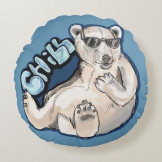 Almofada Redonda Urso polar frio