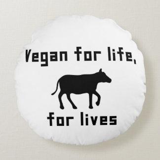 Almofada Redonda Vegan para a vida
