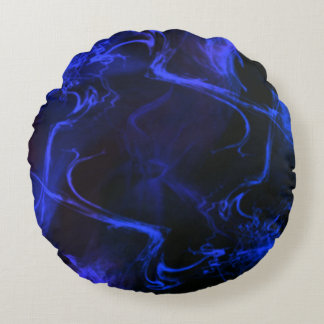 Almofada Redonda Wisp azul